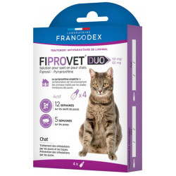 Antiparasitaire pour chat Fiprovet Duo Francodex