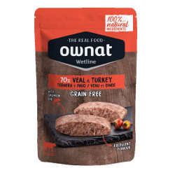 aliment humide pour chat Veal & Turkey Ownat