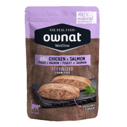Aliment humide pour chat Chicken & Salmon Ownat