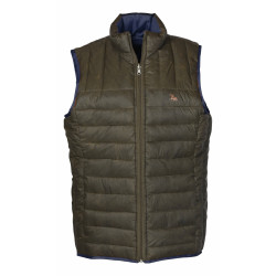 Gilet Week-end reversible Verney carron marron/bleu