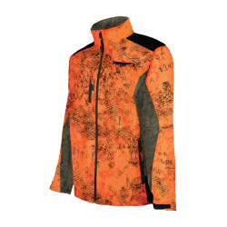 Blouson Softshell SNAKE Pro hunt Camo orange