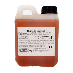 Huile de saumon 1L Nature Dog