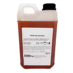 Huile de saumon 2.5L Nature Dog